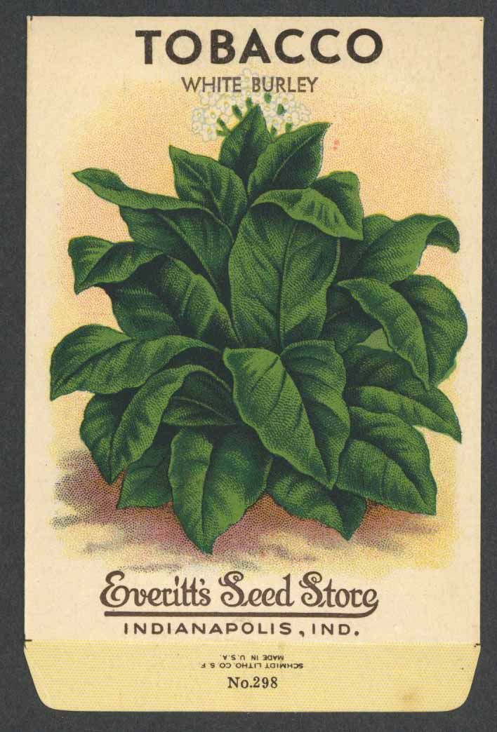Tobacco Antique Everitt's Seed Packet, White Burley