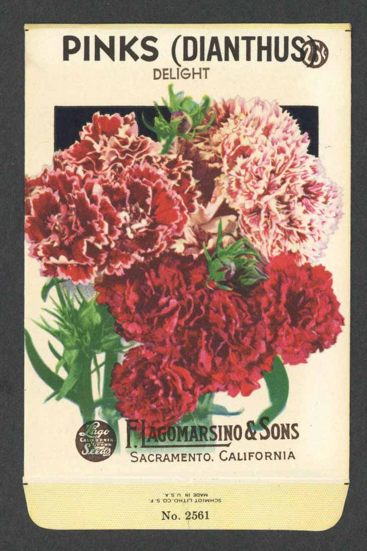 Pinks Vintage Lagomarsino Seed Packet