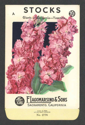 Stocks Vintage Lagomarsino Seed Packet, Giants of California