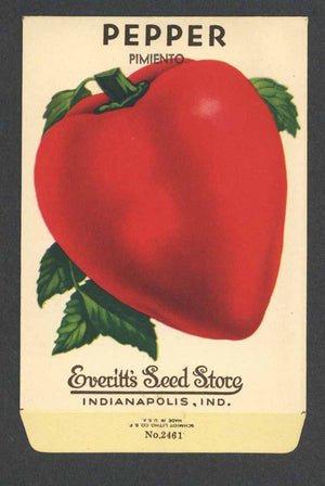 Pepper Vintage Everitt's Seed Packet, Pimiento