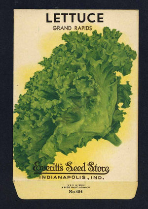Lettuce Vintage Everitt's Seed Packet, Grand Rapids