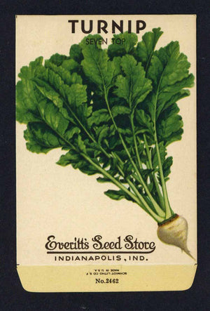 Turnip Vintage Everitt's Seed Packet, Seven Top