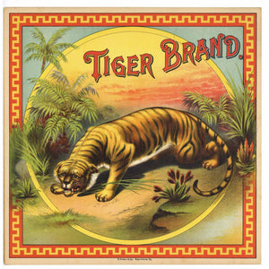 Tiger Brand Antique Tobacco Caddy Label