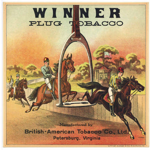 Winner Brand Antique Tobacco Caddy Label