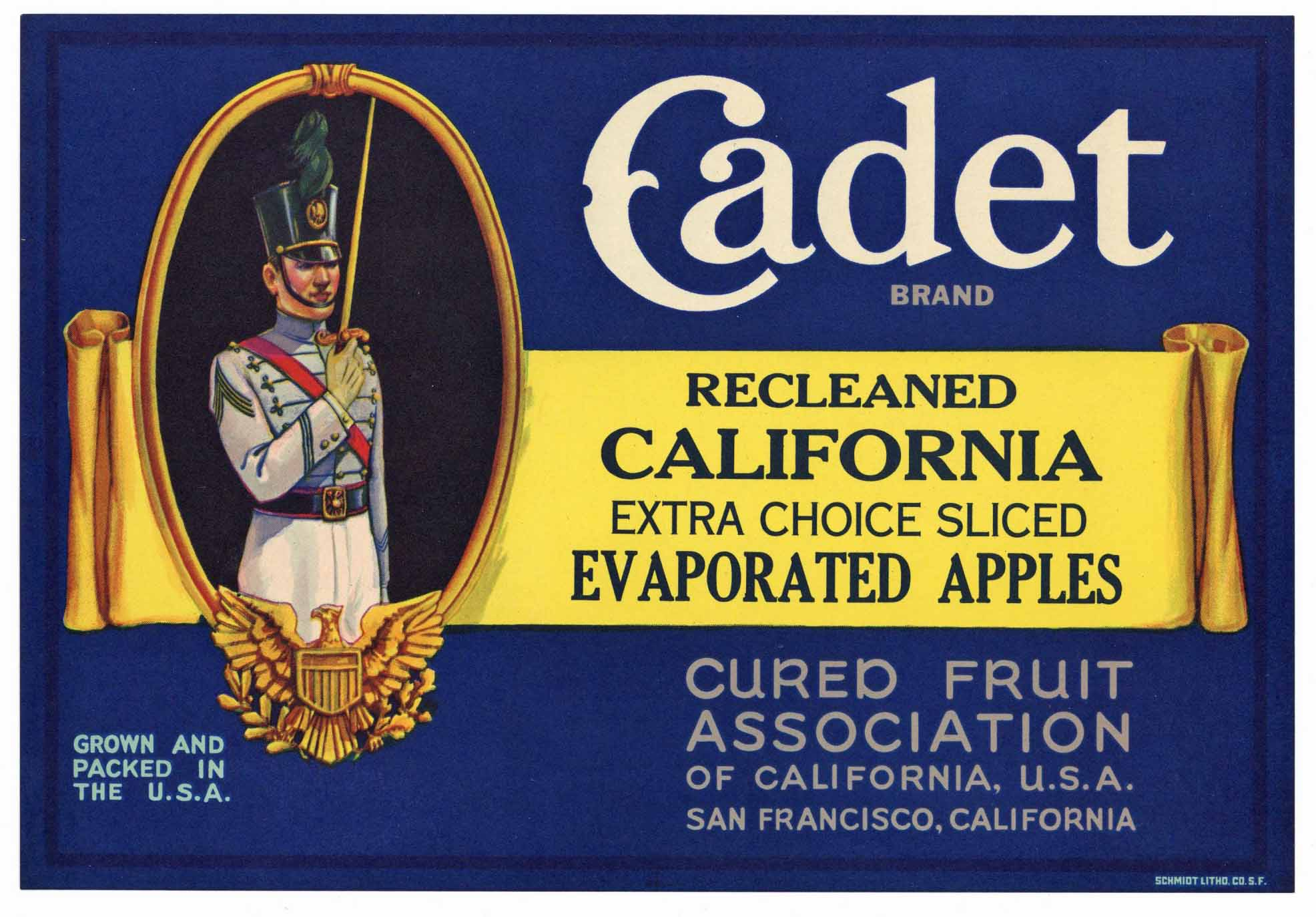 Cadet Brand Vintage Apple Crate Label, s