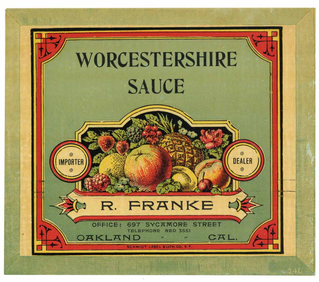 Worcestershire Sauce Vintage Case End Can Label