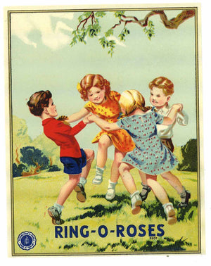 Ring-O-Roses Brand Vintage Fabric Label