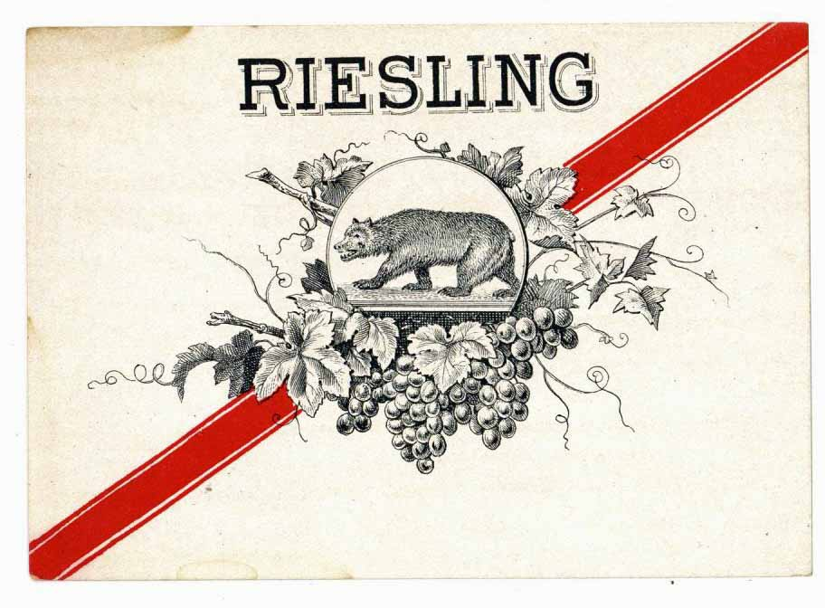 Riesling  Brand Vintage Stock Wine Label