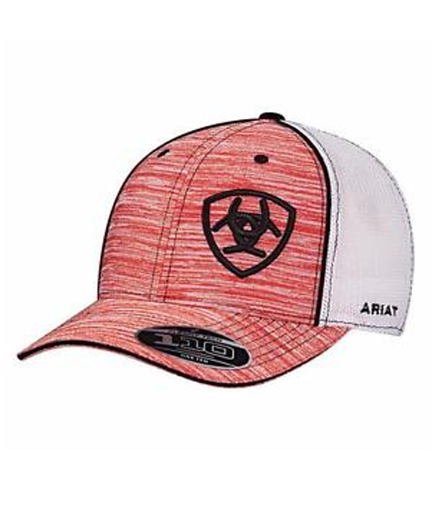 ec47a184 Ariat® Twister Western Mens Hat Baseball Cap Mesh Patch Red Heather