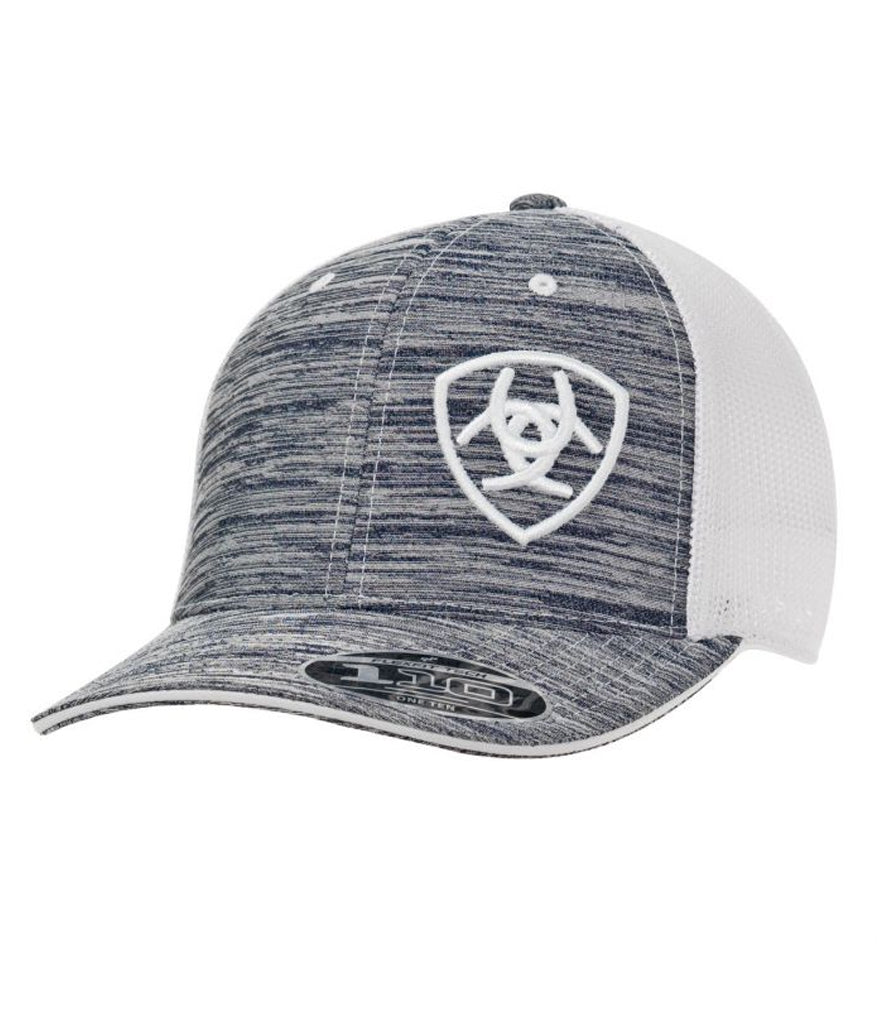 a004466f65b Ariat® Heather Grey and White Ball Cap – Corral Western Wear