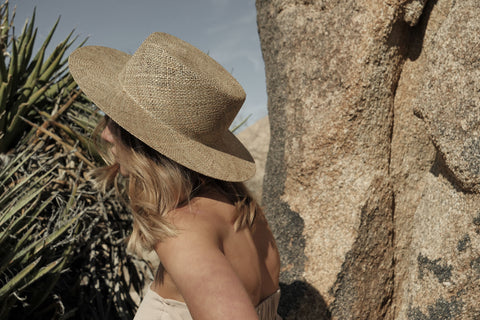 womens straw hat boater style