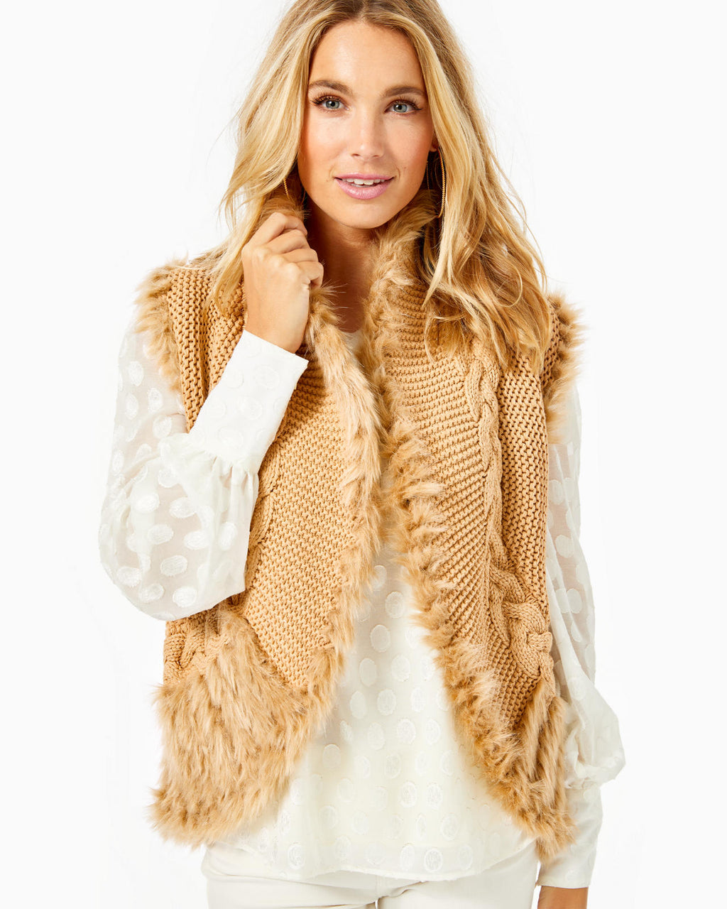 Torini Faux Fur Sweater Vest