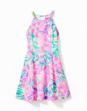 Girls Fernanda Halter Dress