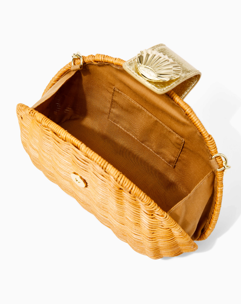 Redford Wicker Crossbody Bag