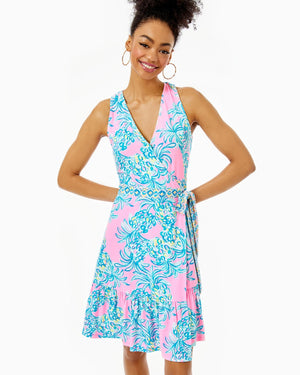 Sleeveless Misha Wrap Dress