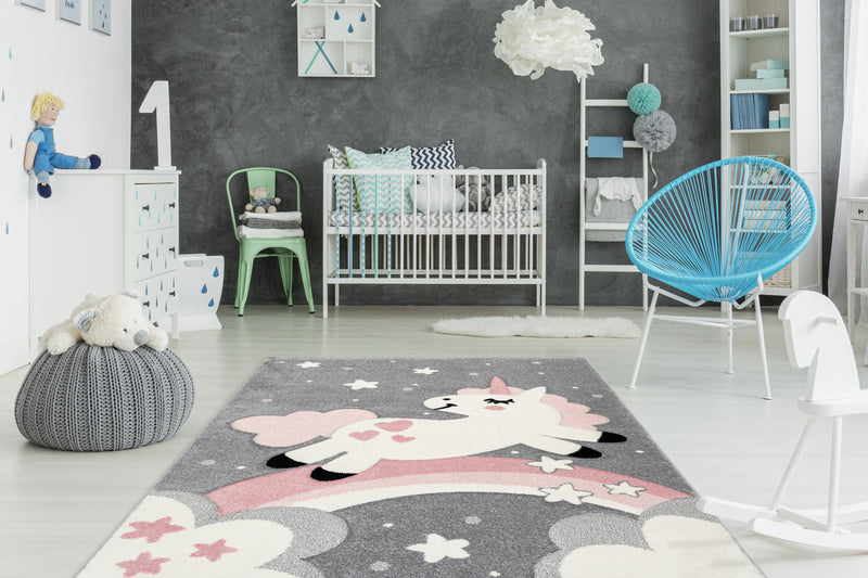 Kinderkamer vloerkleed met unicorn | Kind & Baby