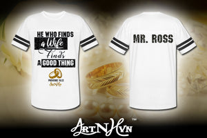 Custom Proverbs 18:22 Jersey Shirt (Mr. Ross)