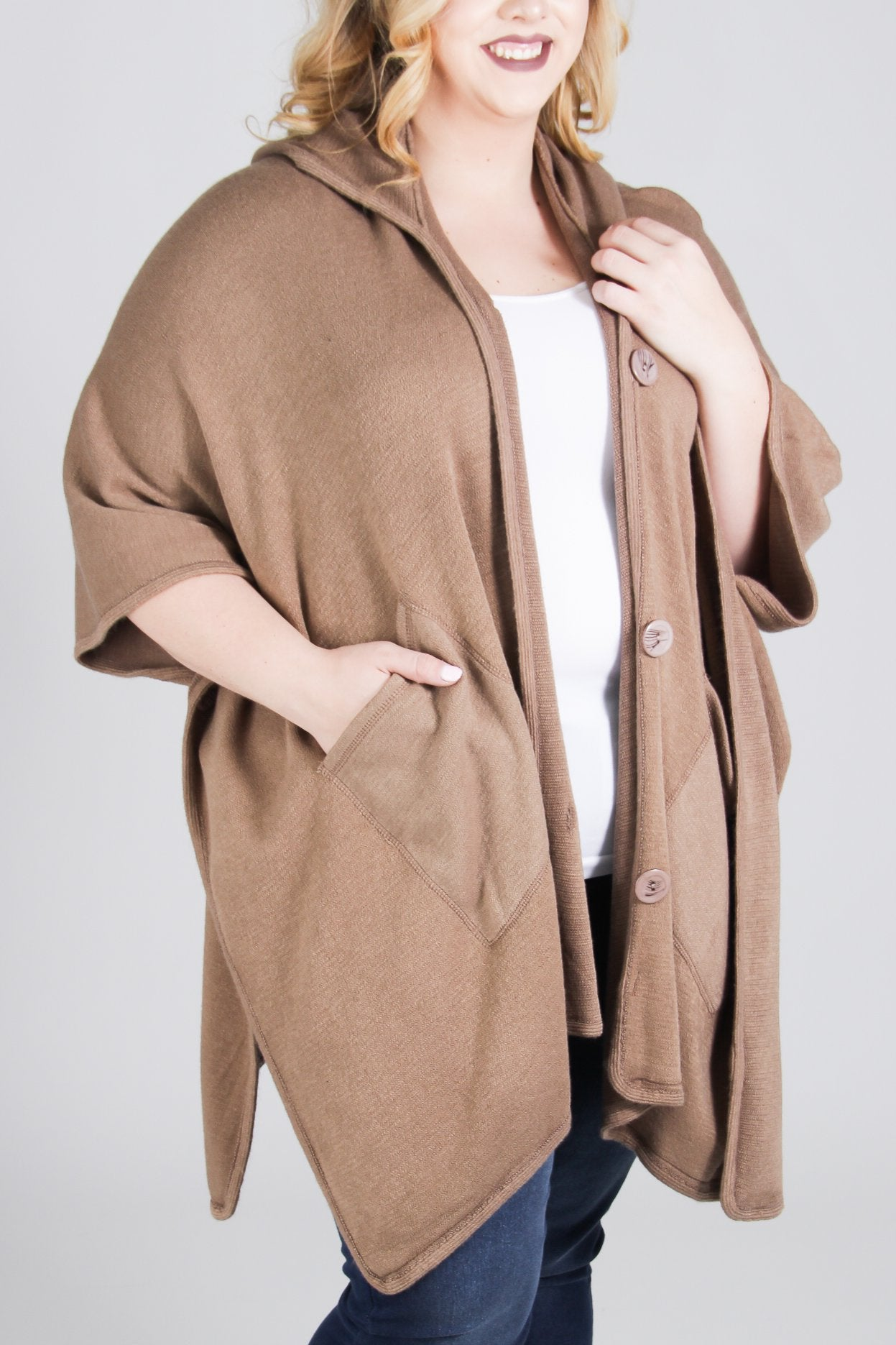 Isaline Hooded Cape
