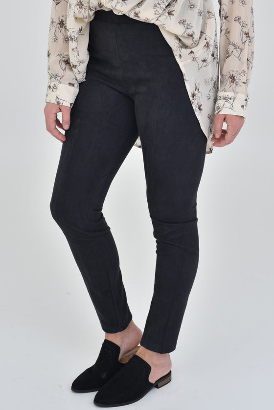 Ava Suede Leggings