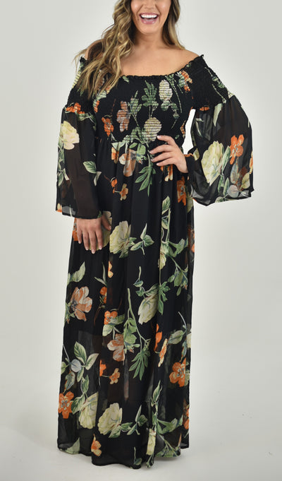 Lucille Curvy Maxi Dress
