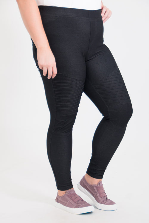 Carey Curvy Moto Jeggings
