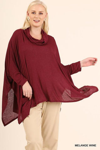 Angelica Curvy Cowl Neck Top