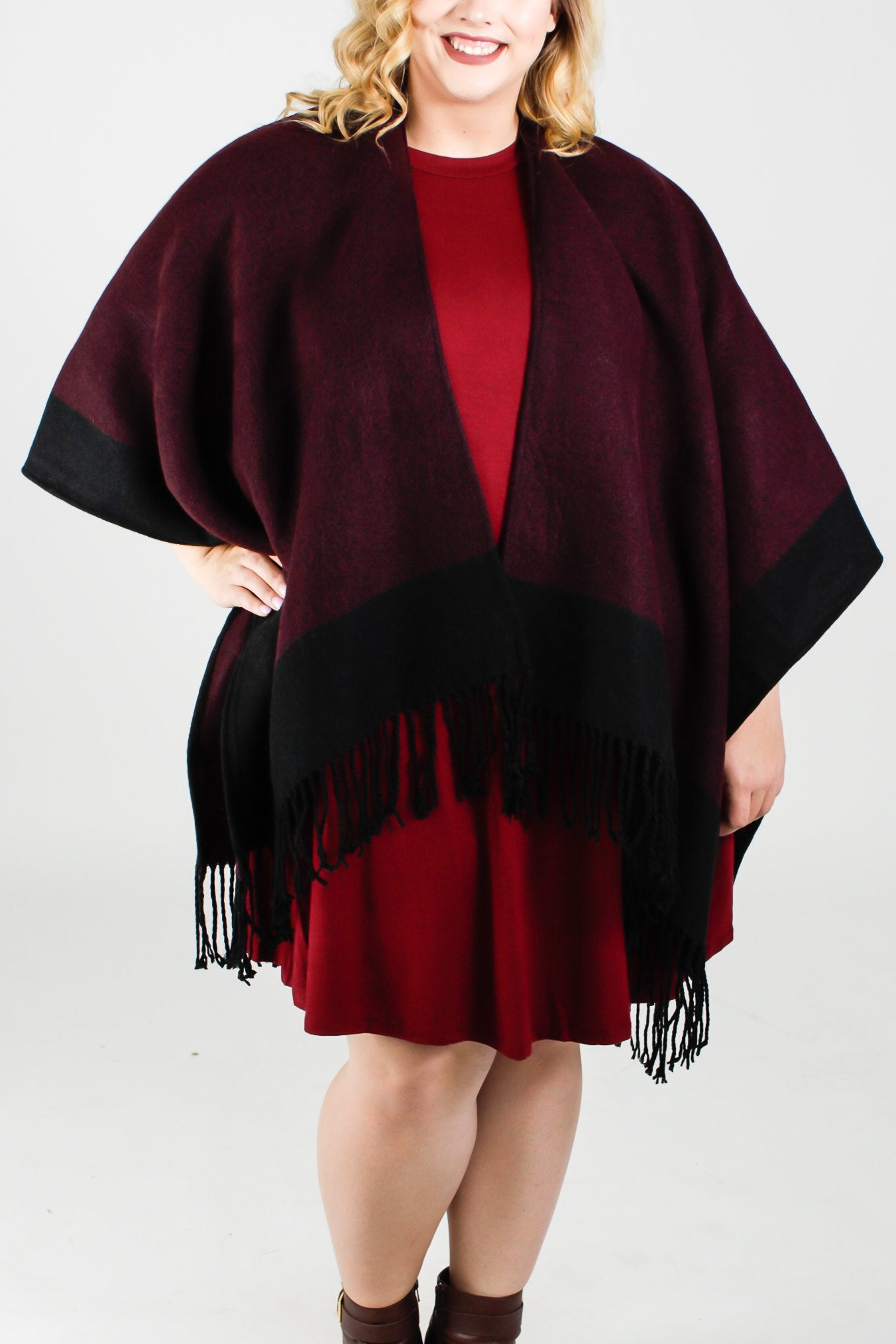 Theadora Reversible Poncho