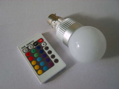 Mood light Colour Changing RGB LED Bulb (B22 fitting)