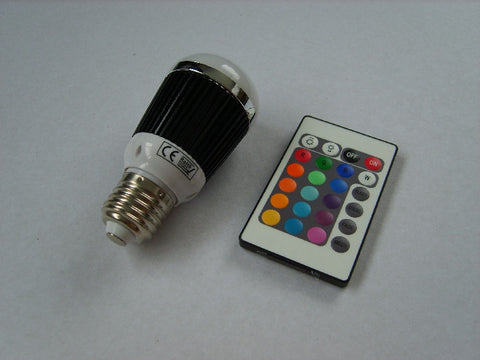 Colour Changing RGB LED Bulb E27