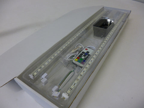 2 x 500mm RGB LED Rigid bar Kit with RF remote control