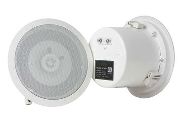 TeachLogic Ceiling Speaker, Coaxial, 8 ohm, Metal Back Can and Tile Bridge
