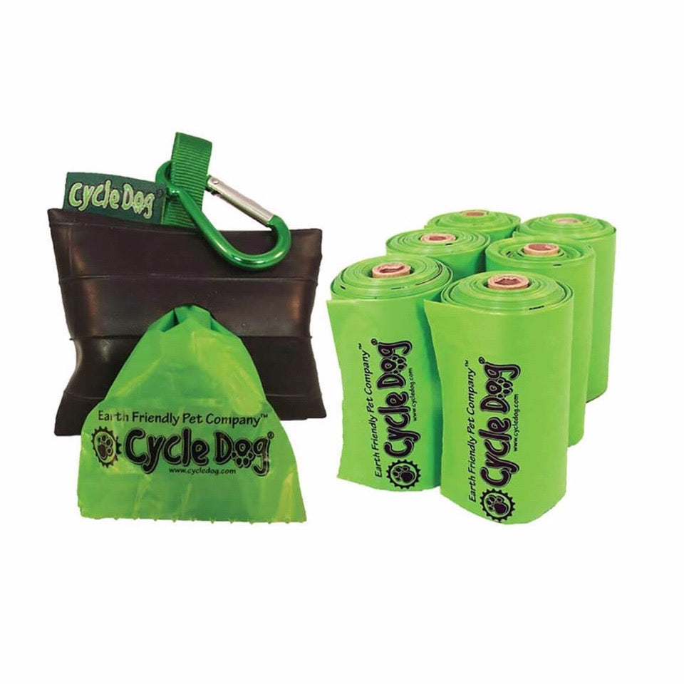 Earth Friendly Pickup Bags with Holder
