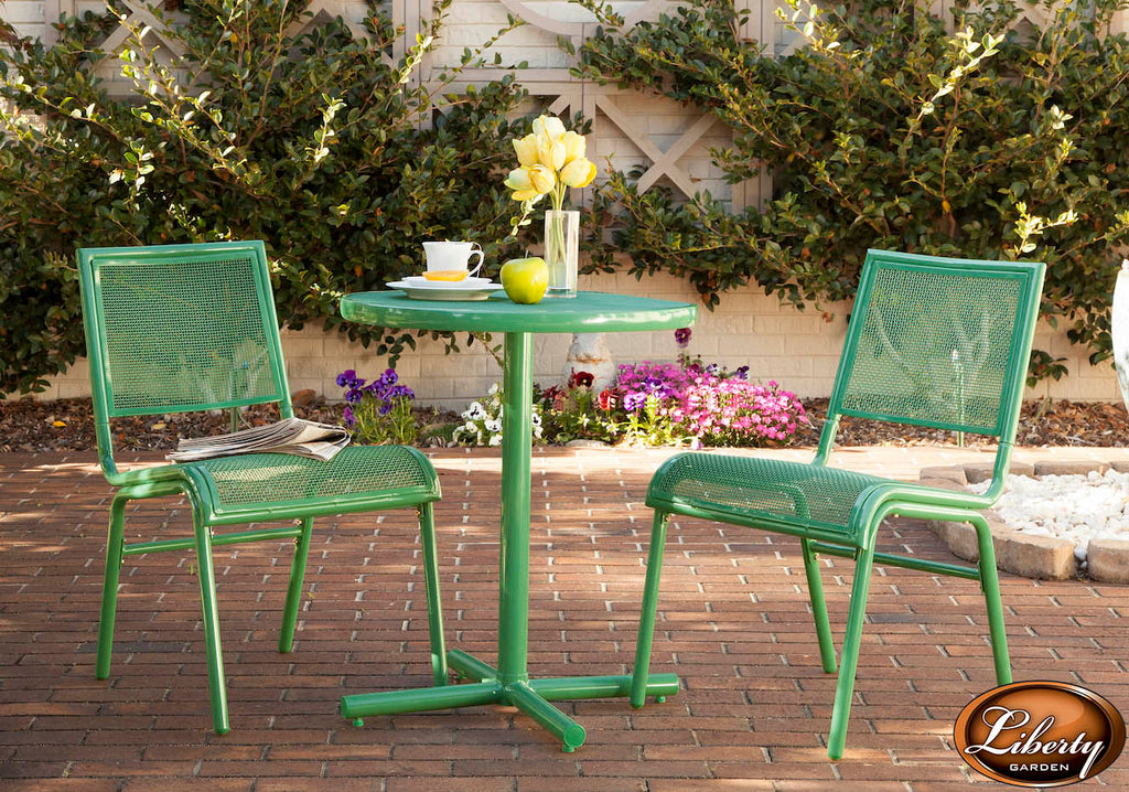 Bixby 3 Piece Bistro Set, Green