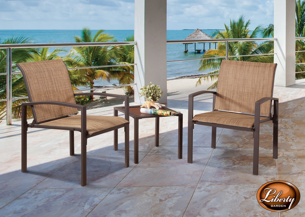 Galveston 3 Piece Seating Set, Brown