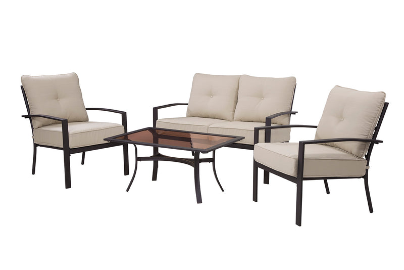 Briarwood 4 Piece Seating Set, Neutral