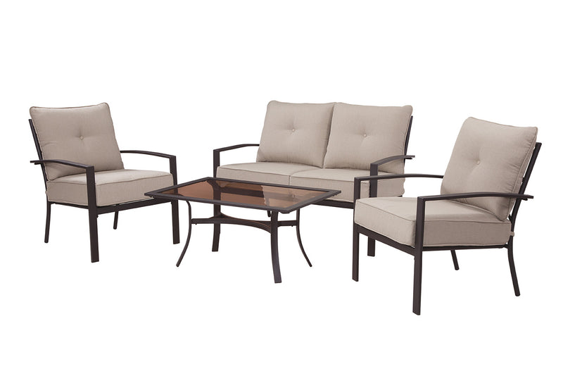 Briarwood 4 Piece Seating Set, Tan