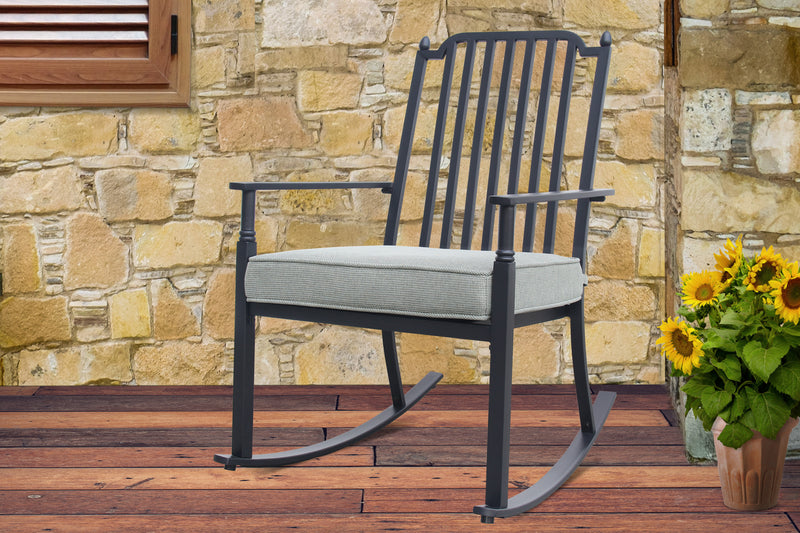 Cushion Rocking Chair Gray
