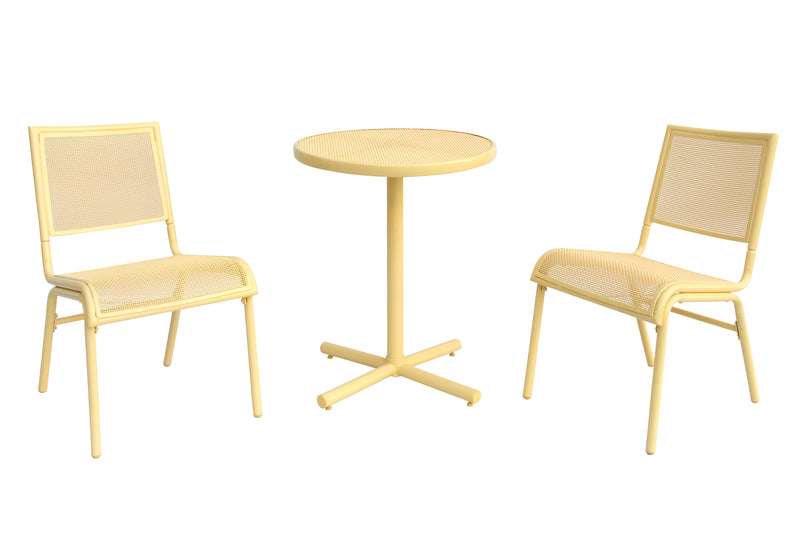 Bixby 3 Piece Bistro Set, Yellow