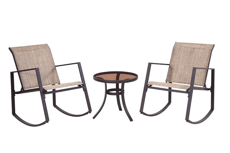 Aurora 3 Piece Sling Rocking Bistro, Brown