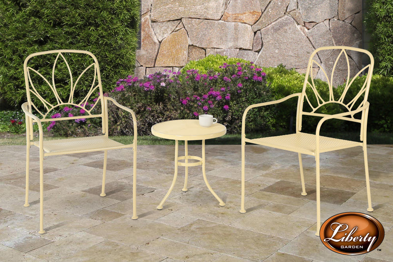 Mendoza 3 Piece Bistro Set White
