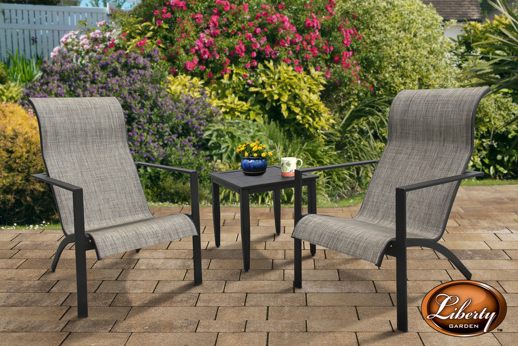 Fairlane 3 Piece Seating Set Black