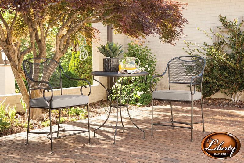 Laredo 3 Piece Balcony Set, Red