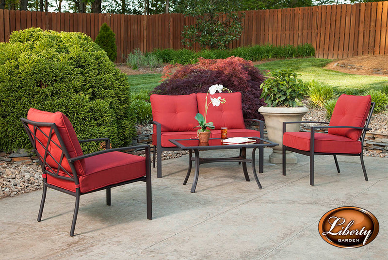 Galveston 3 Piece Seating Set, Black
