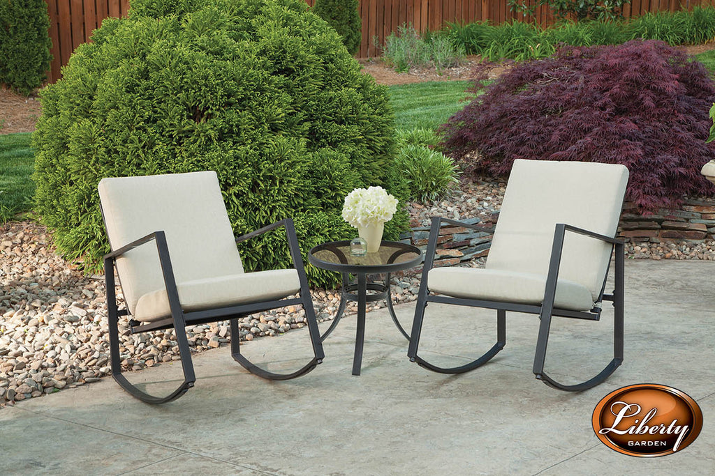 Aurora 3 Piece Cushion Seating Set, Neutral