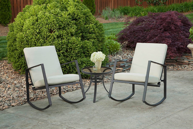 Aurora 3 Piece Cushion Seating Set, Tan