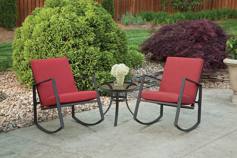 Aurora 3 Piece Cushion Seating Set, Red