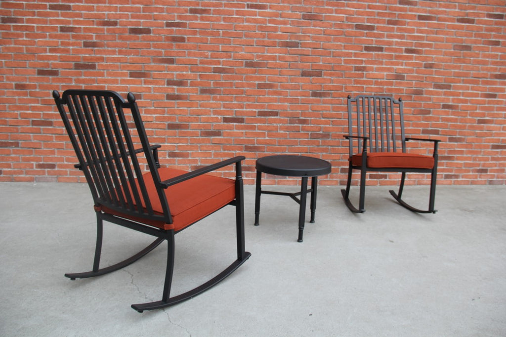 Knoxville 3 Piece Rocking Seating Set, Red