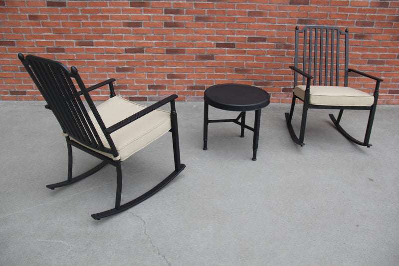 Knoxville 3 Piece Rocking Seating Set, Neutral