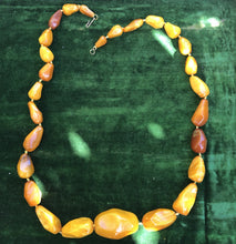 Beautiful Butterscotch Baltic Amber Beaded Necklace 76 grams 28 inches long Very Large Beads