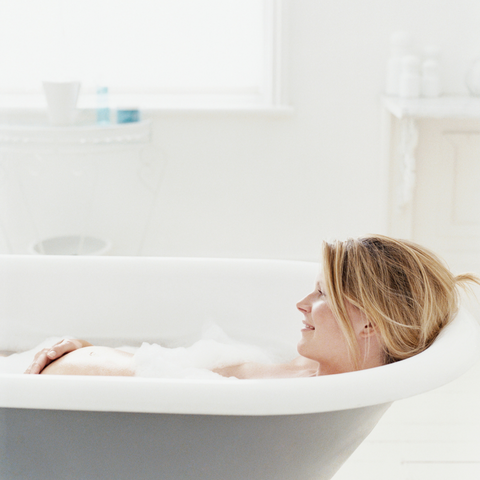 A cold bath is great for bringing down your temperature when you're pregnant